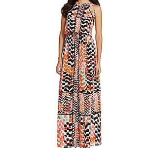 Gibson and Latimer Watercolor Chevron Maxi Dress